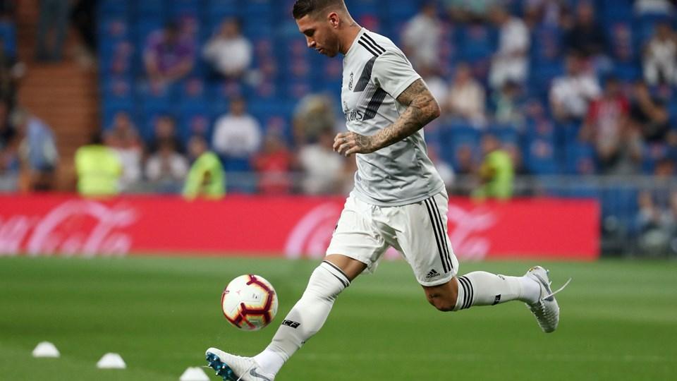 Sergio Ramos er blevet hjemme i Madrid for at slappe lidt af. Foto: Sergio Perez/Reuters