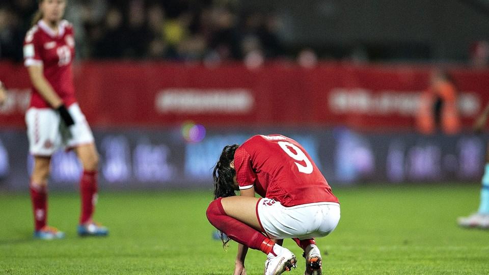 Nadia Nadim og resten af det danske fodboldlandshold tabte tirsdag med 1-2 til Holland og misser dermed VM. Foto: Henning Bagger/Ritzau Scanpix