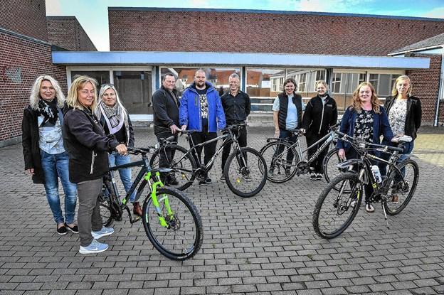 Forældrene er blevet grebet af ny leders vilje til at gøre Hanstholm skole endnu bedre. Nu skal sponsorløb cykle penge hjem til multibane. Foto: Ole Iversen