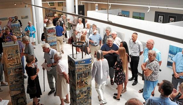 175 trodsede sommervarmen og rykkede inden for på Kunstmuseet.