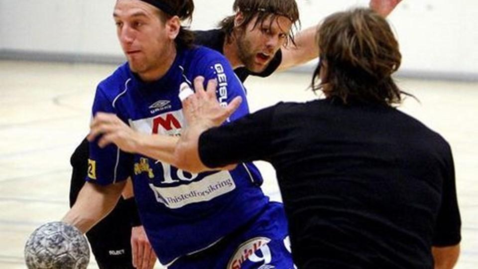 Markus Mørk scorede fire gange mod BSV, men det rakte ikke til point for Mors-Thy Håndbold. Foto: Peter Mørk