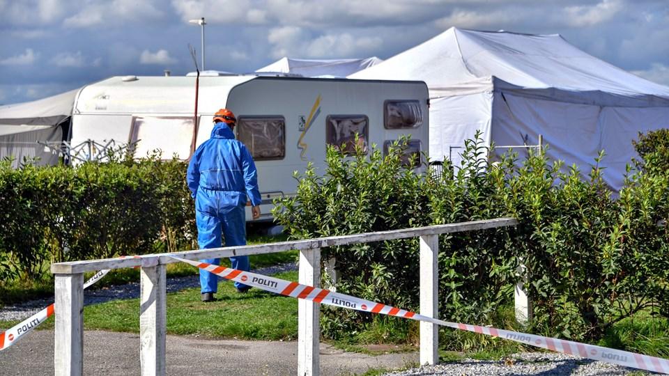 Det var sandsynligvis et levende lys, der var årsag til dødsbrand i campingvogn på Hvalpsund Familie Camping. Foto: Kurt Bering
