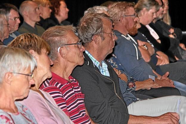 Der blev lyttet intens fra salen. Foto: Hans B. Henriksen