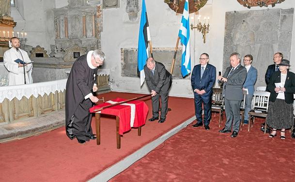 Lokale præster til Tallin i 800-året for Dannebrog
