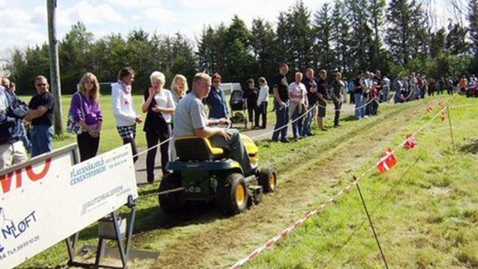 Der var traktortræk ved årets udgave af sommerfesten i Lendum.PRIVATFOTO