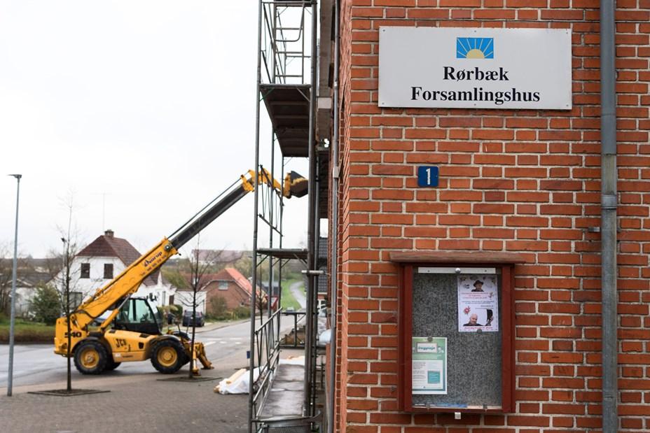 Kultur- og forsamlingshus under renovering