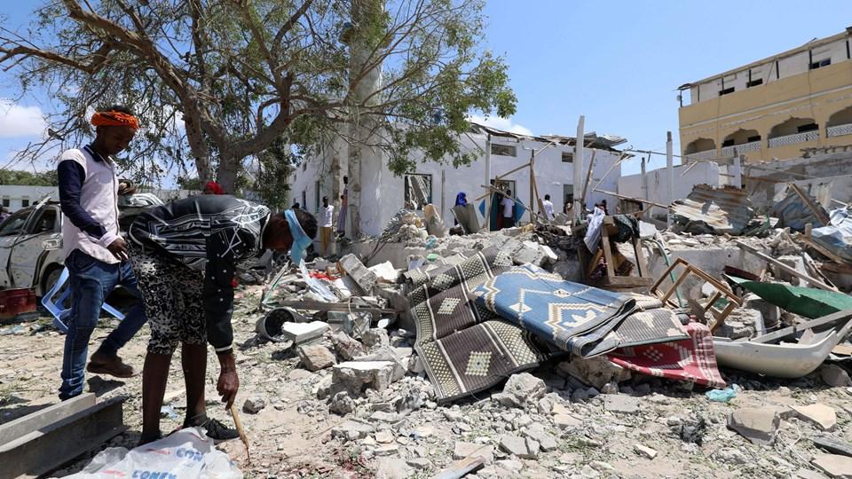 Eksplosionen i Mogadishu var så voldsom, at flere bygninger blev ødelagt. Foto: Feisal Omar/Reuters