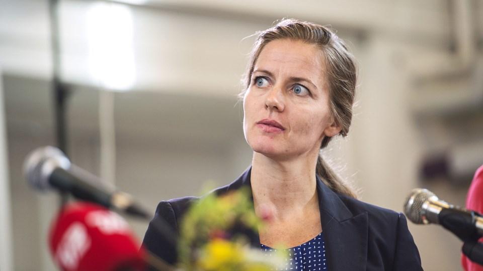 """Sundhedsminister Ellen Trane Nørby (V) erkender, at hun har et medansvar for den stigende mentale mistrivsel blandt unge. Hun oplyser, at regeringen arbejder med en række initiativer, som hun dog ikke vil """"løfte sløret for i det her interview"""". Arkivfoto: Ólafur Steinar Gestsson/Ritzau Scanpix"""
