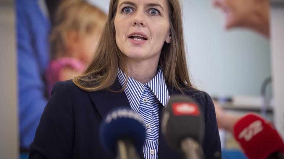 Sundhedsminister Ellen Trane Nørby (V) vil forbyde konstruktion af jomfruhinder. (Arkivfoto).