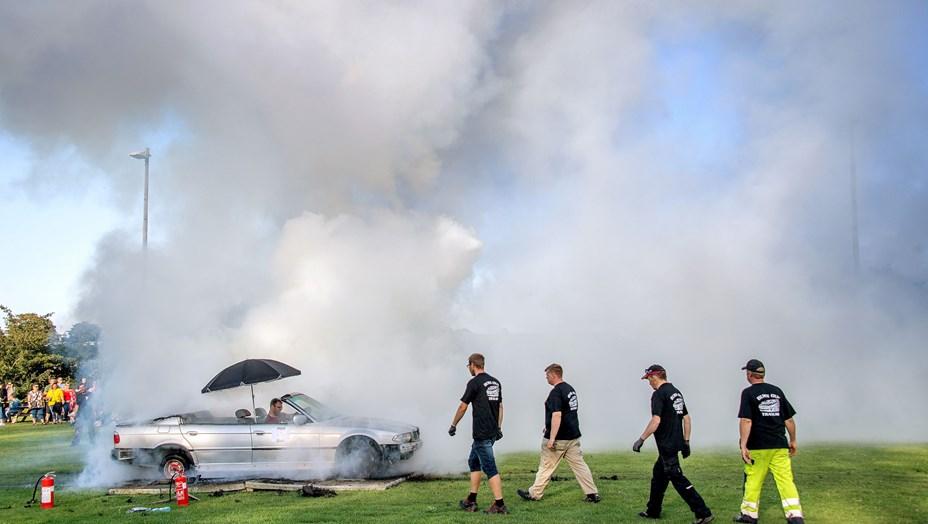 Masser af røg til Tranum Sommerfest