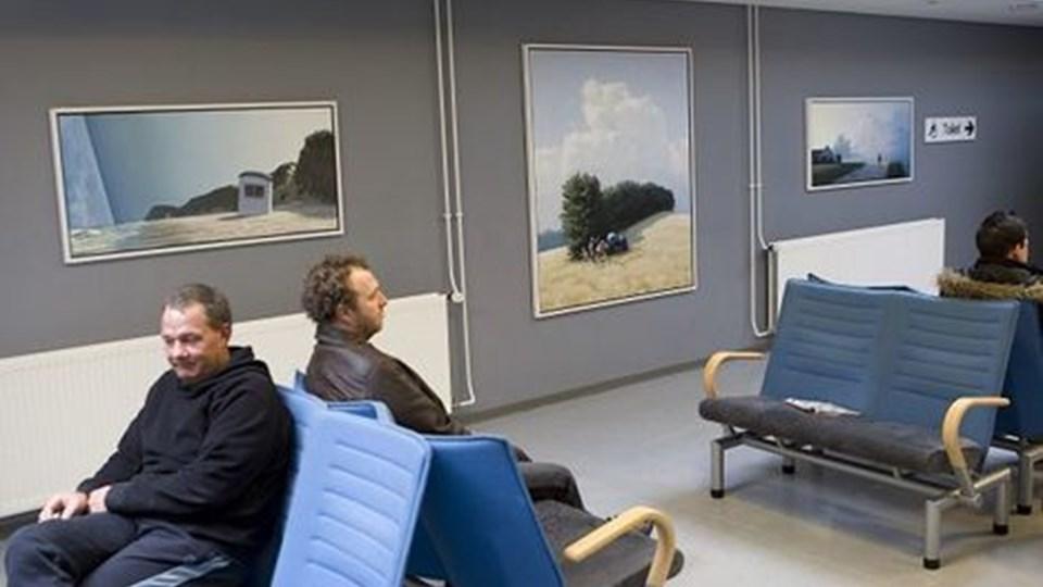 """Billedet længst til højre her er andenudgaven af maleriet """"Aften"""", som er en del af Poul Anker Bechs værk fra 2002 """"Dagens gang i Vendsyssel"""". Foto: Kurt Bering"""