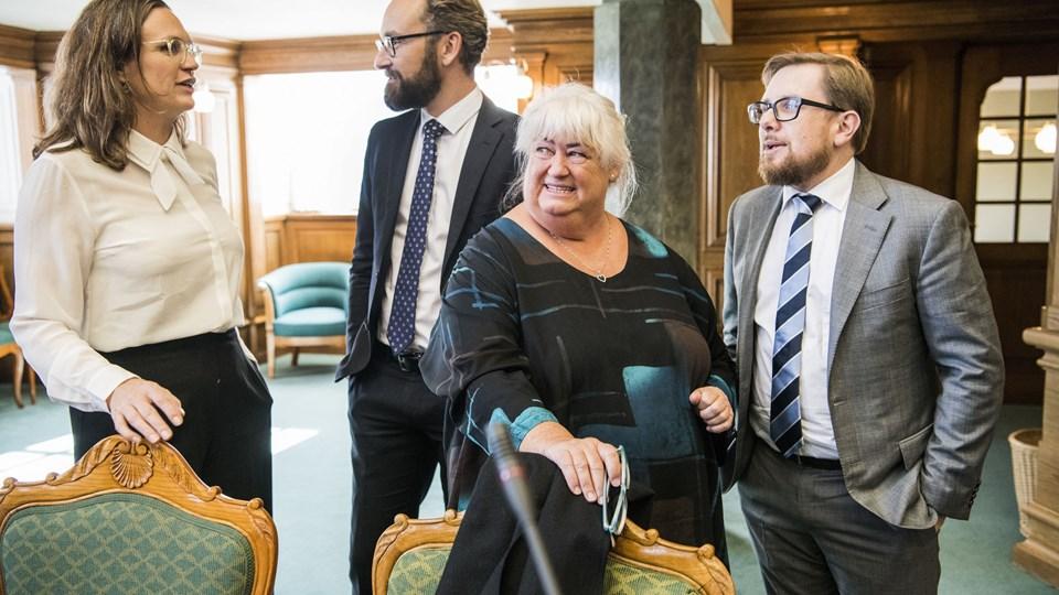 Ældreminister Thyra Frank (LA) er i færd med at udarbejde en lov, der skal forebygge konkurser blandt private firmaer i ældreplejen. Men i bestræbelserne risikerer hun at skabe mere bureaukrati, lyder advarsel fra kommunerne. Foto: Scanpix/Søren Bidstrup/arkiv