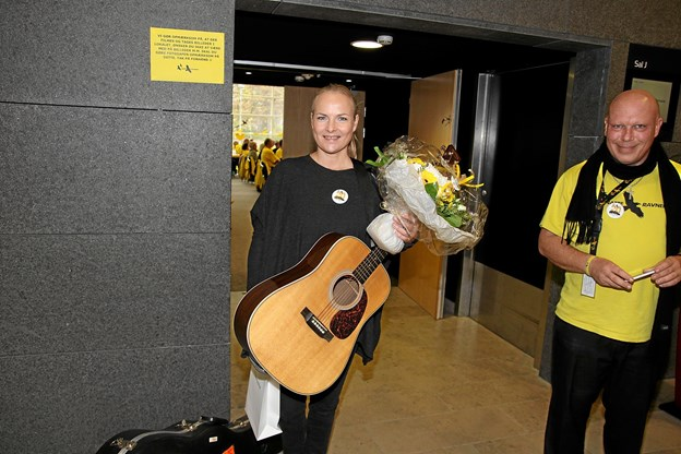 Søs Fenger har altid været en del af Natteravnene og kommer hvert år til Landsmødet for at synge et par sange. Foto: Flemming Dahl Jensen Flemming Dahl Jensen