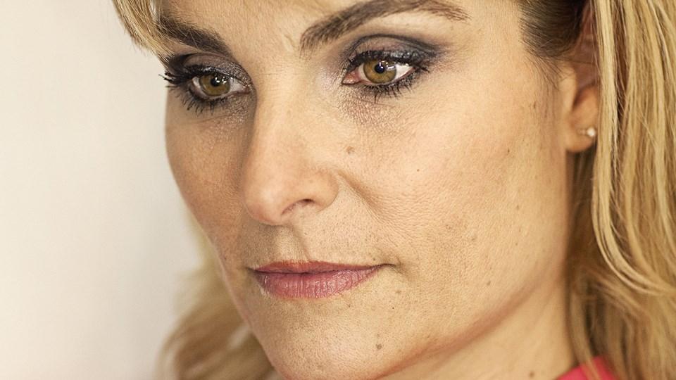 """Michèle Bellaiche stopper som vært på """"Go' aften Danmark"""". Foto: Scanpix/Jonas Skovbjerg Fogh"""