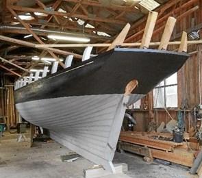Første nye træskib i 44 år på Hobro værft