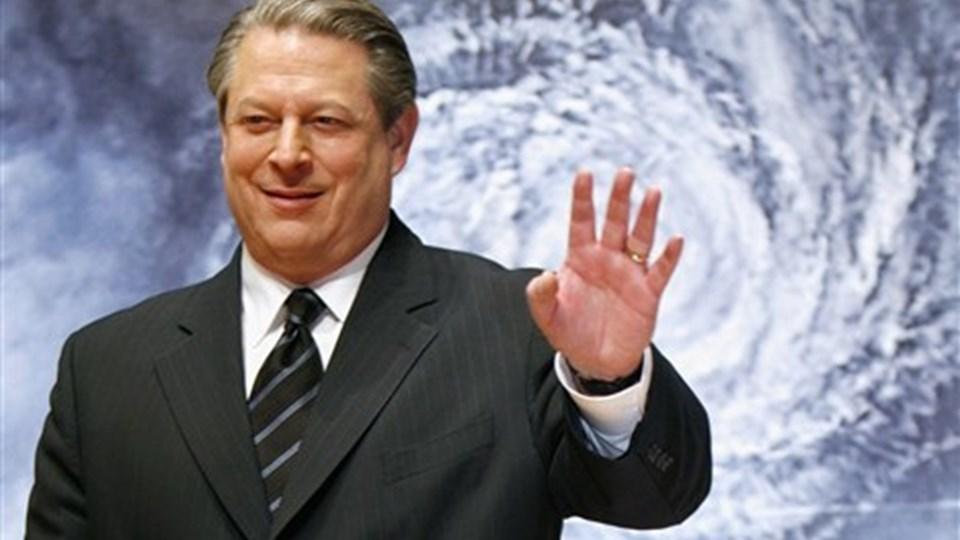 Miljøforkæmperen Al Gore taler på Aalborg Universitet onsdag - men ingen må fortælle hvad han siger. Foto: Scanpix