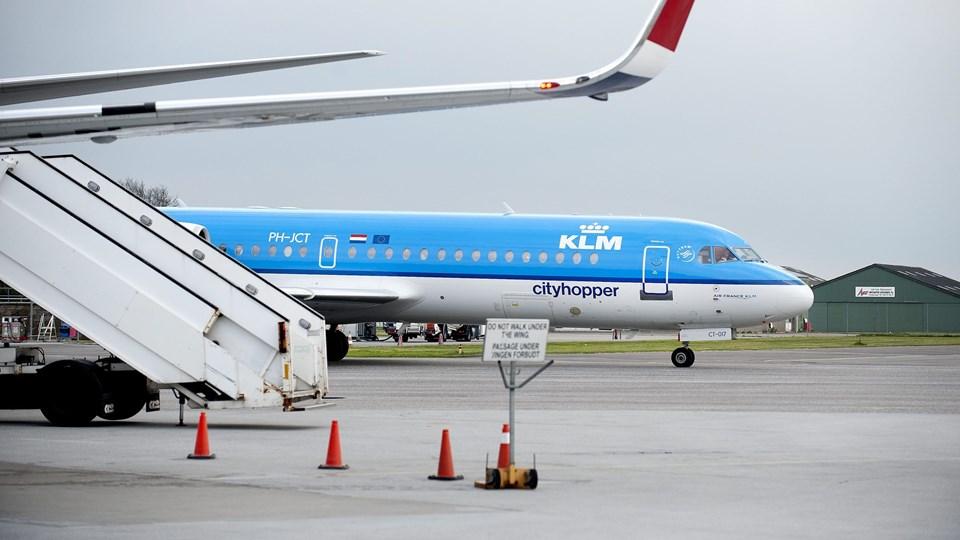 KLM sætter større fly ind på Amsterdam-ruten pr. 1. april.Arkivfoto: Torben Hansen
